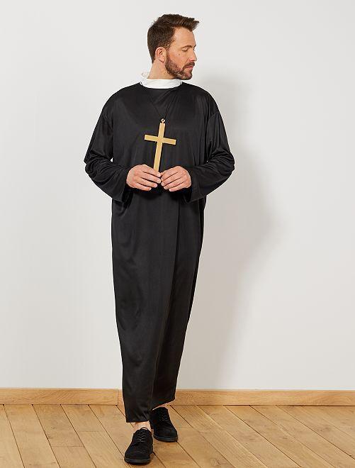 Déguisement de curé                             noir