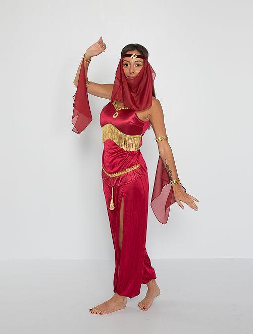 Déguisement de danseuse orientale                             rouge