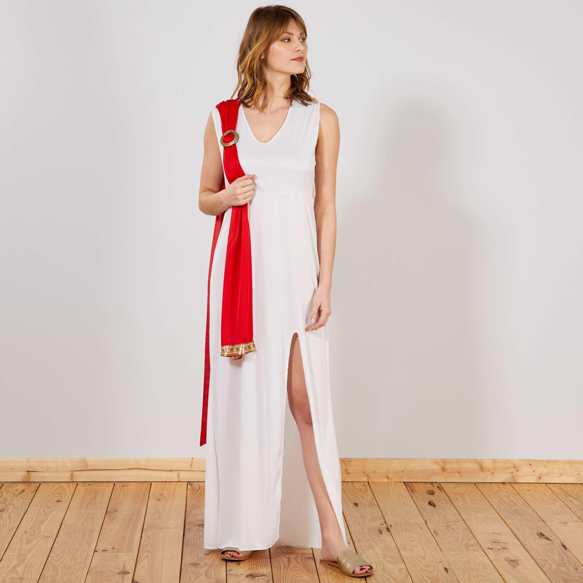 Bekannt Déguisement de Déesse Femme - blanc/rouge - Kiabi - 19,00€ JQ03