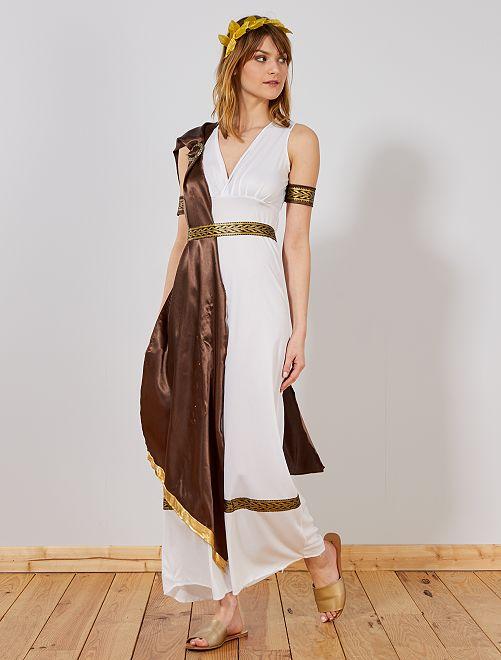 Déguisement de déesse grecque                             blanc