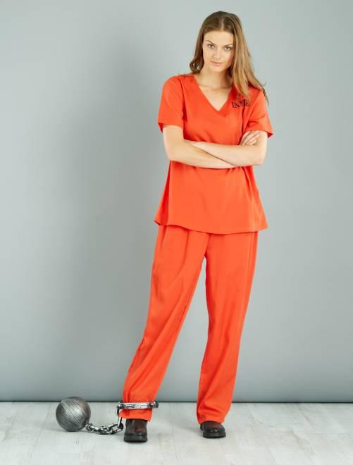Déguisement de détenue                             orange