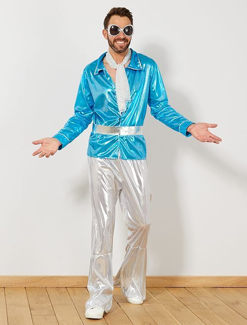 Déguisement de disco                             bleu Homme