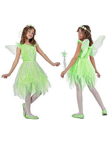 Product Couleur : vert, , ,, - Taille : 3/4A, 8/10A, 5/6A,,Habillement Déguisements / Enfant / Déguisement enfant / Princesses, fées  Un déguisement craquant pour les petites fées ! - Déguisement de fée 'nature' - Set  KIABI