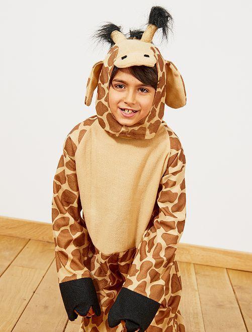 Déguisement de girafe                             marron Enfant