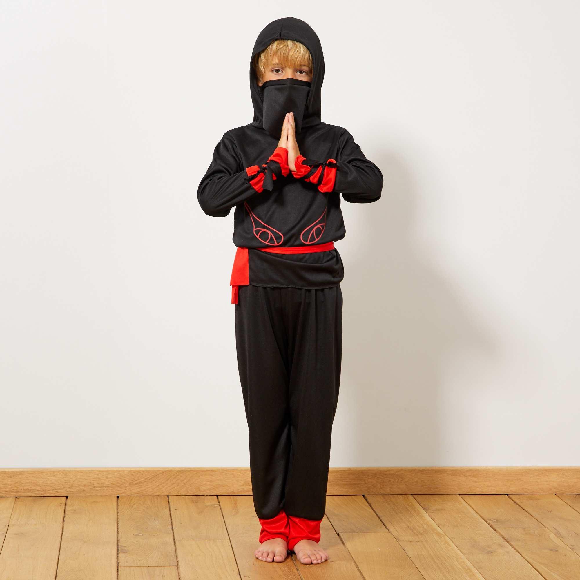 Couleur : noir/rouge, , ,, - Taille : 10/12A, 5/6A, 7/8A,,Les arts martiaux font rêver votre petit alors offrez-lui ce déguisement de guerrier