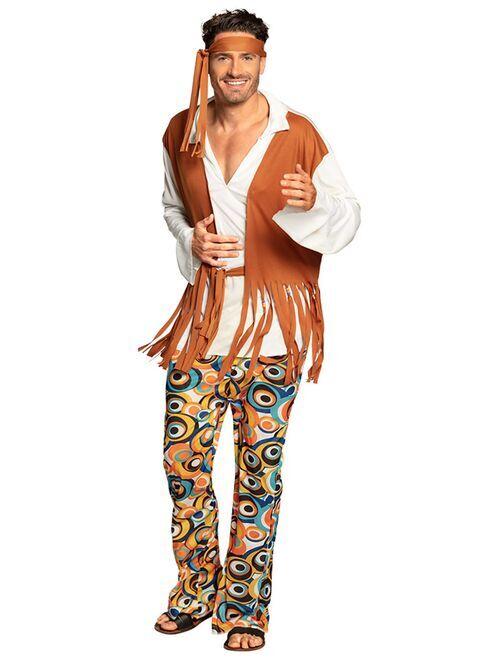 Déguisement de hippie                             marron