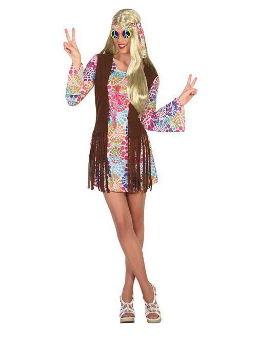 Déguisement de hippie                             multicolore