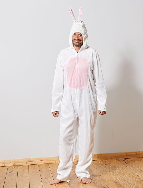 Déguisement de lapin                             blanc/rose Homme