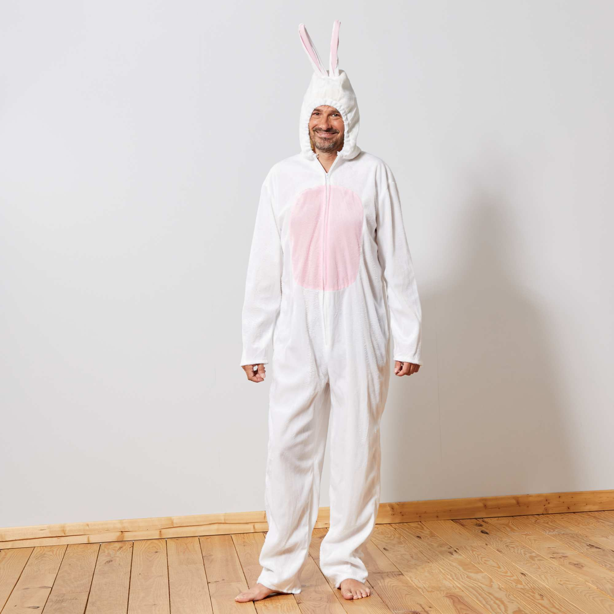 f6897c5a999884 Déguisement de lapin Homme - blanc rose - Kiabi - 29,00€