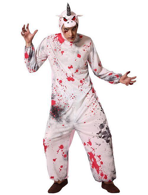 Déguisement de licorne zombie                             rose/blanc