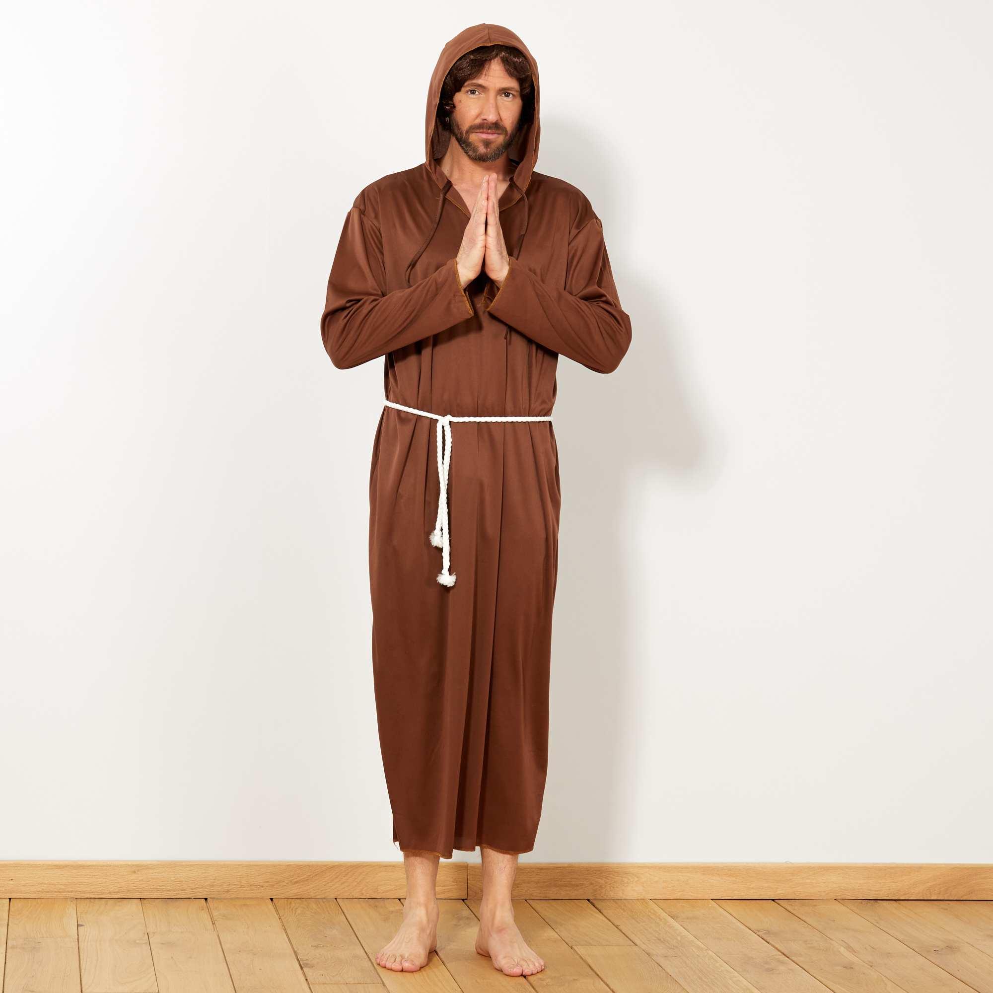 Couleur : marron, , ,, - Taille : TU, , ,,Ne passez pas inaperçu avec ce déguisement de moine ! Le set comprend une robe avec