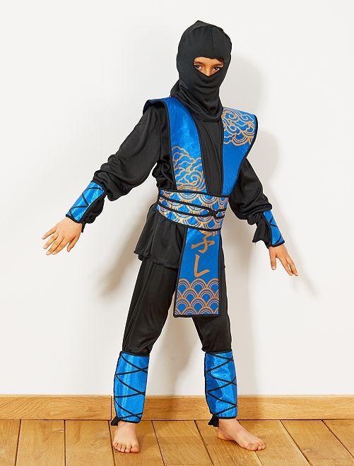 Déguisement de ninja bleu                             bleu/noir