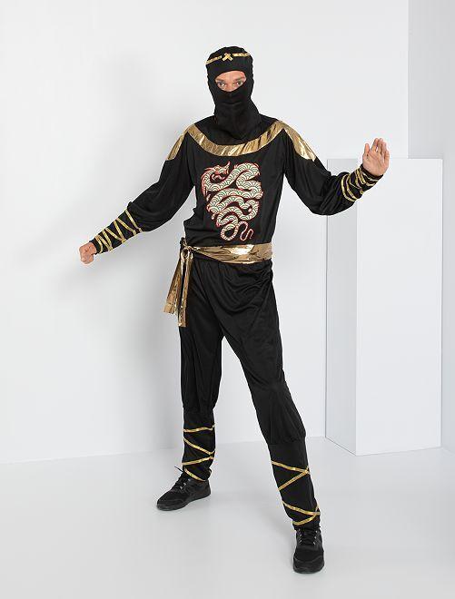 Déguisement de Ninja                             noir/doré