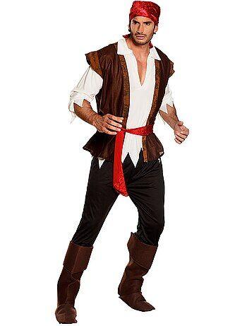 Product Couleur : marron, , ,, - Taille : XL, M/L, ,,Habillement Déguisements / Homme / Déguisement homme / Pirate  A l'abordage ! - Déguisement de pirate - Tee-shirt, pantalon, ceinture, bandana et  KIABI