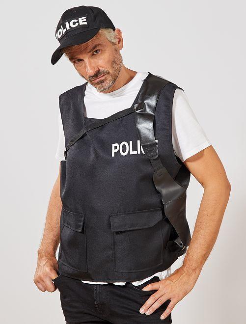Déguisement de policier                             noir