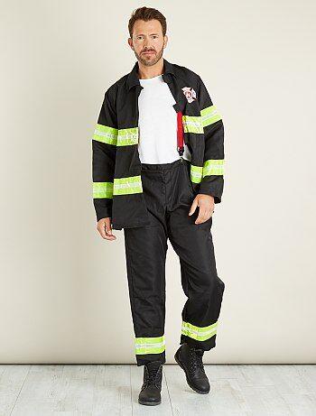 Homme - Déguisement de pompier - Kiabi
