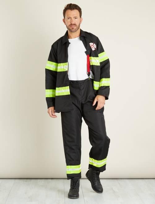 Déguisement de pompier                             noir Homme
