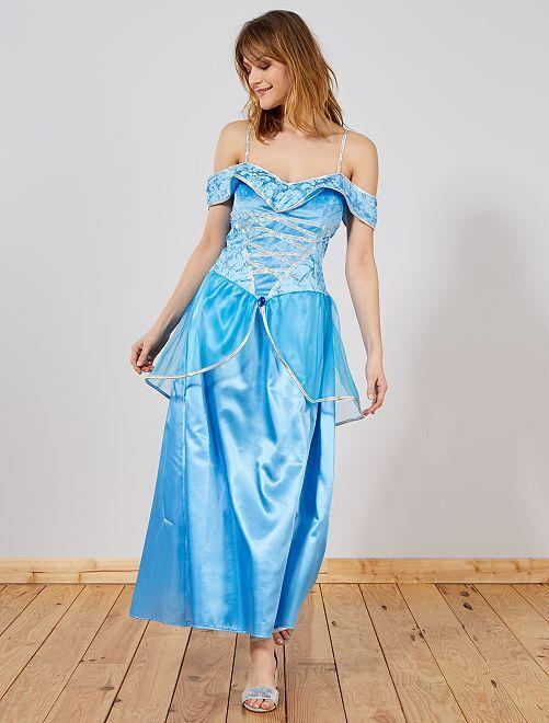 Déguisement de princesse                             bleu