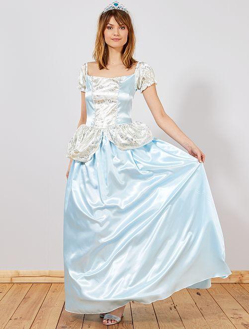 Déguisement de princesse des glaces                             bleu