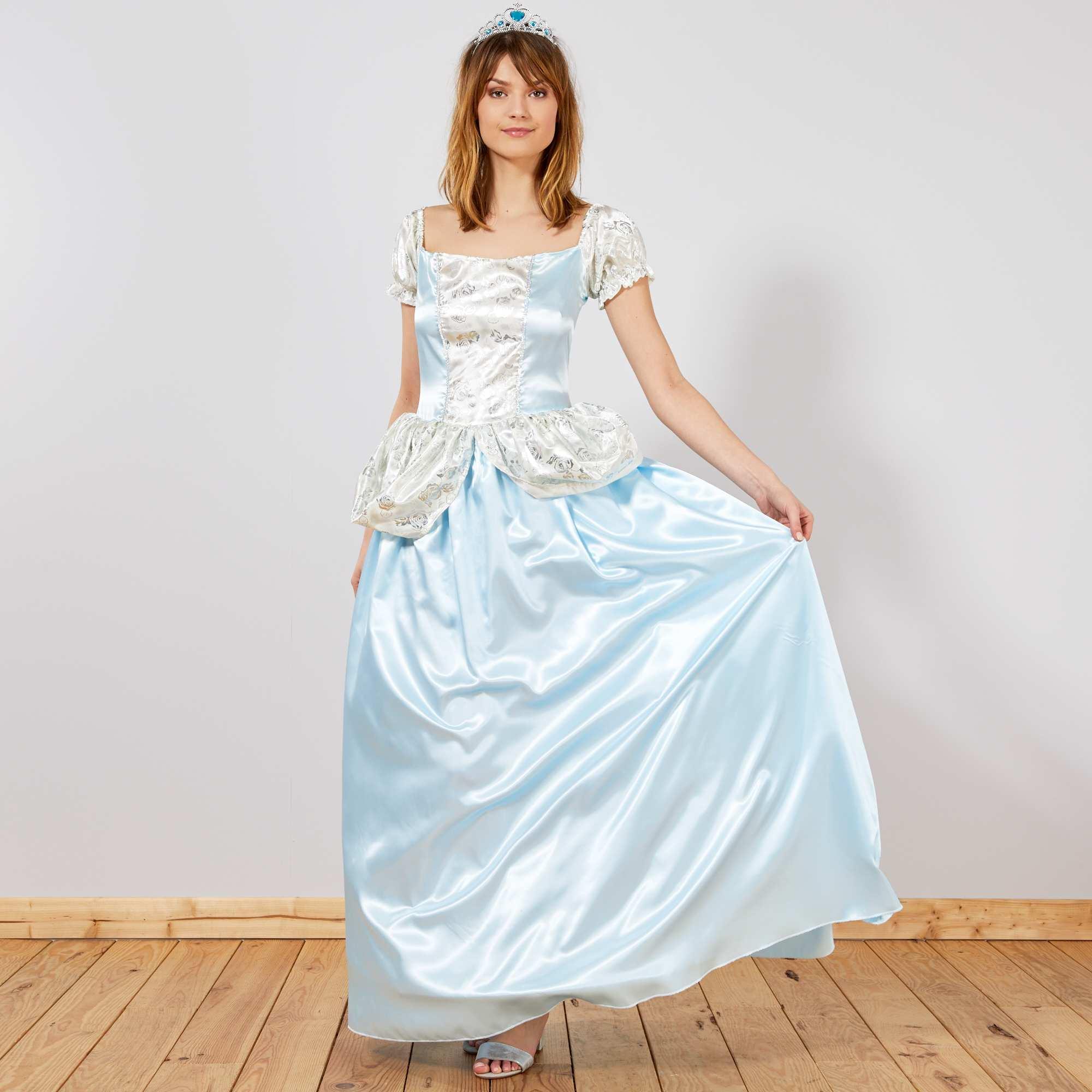 d guisement de princesse des glaces femme bleu kiabi 26 00. Black Bedroom Furniture Sets. Home Design Ideas