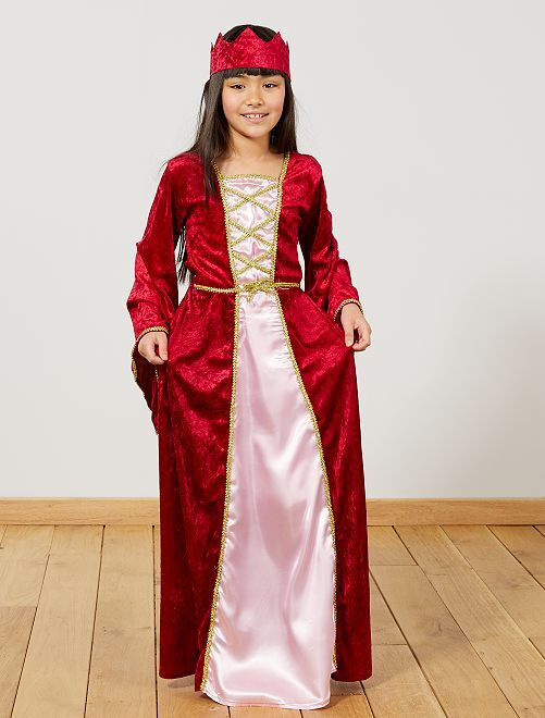 Déguisement de princesse médiévale                             rouge