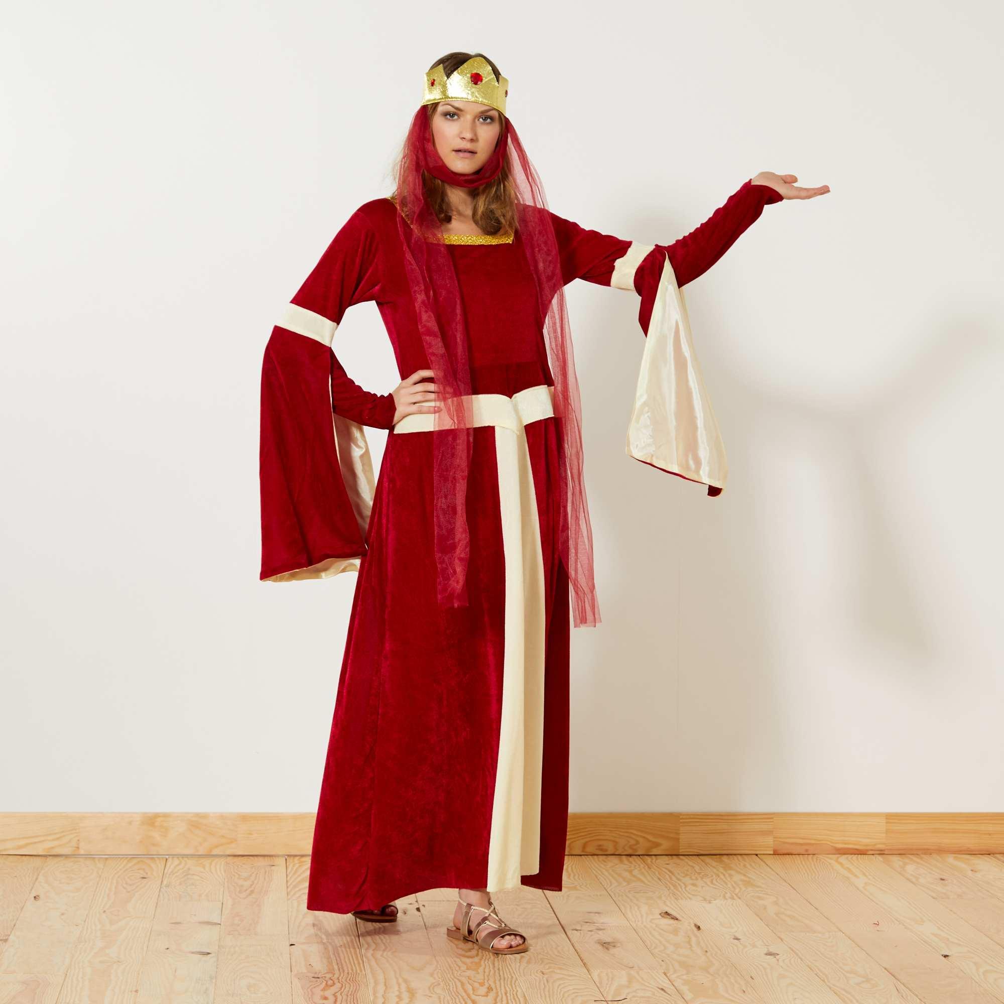301353ae333 Déguisement de princesse médiévale Femme - rouge - Kiabi - 25