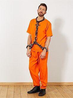 Homme Déguisement de prisonnier US