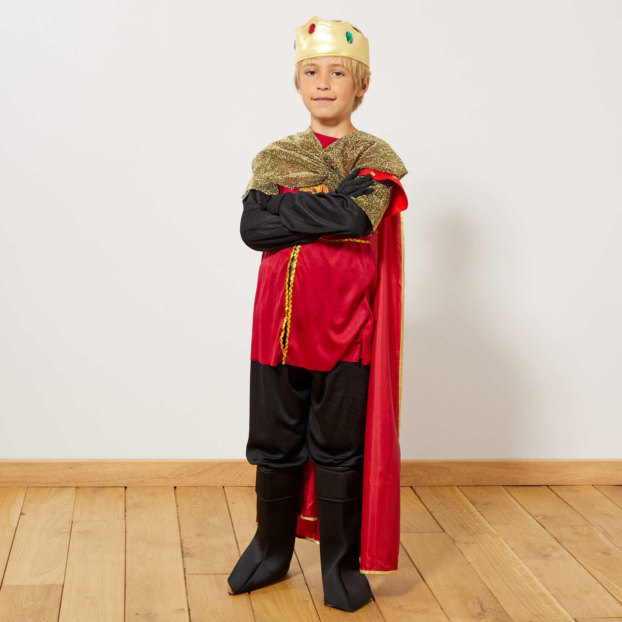 D 233 Guisement De Roi Chevalier Enfant Noir Rouge Kiabi