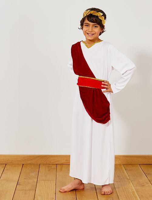 Déguisement de romain                             blanc / rouge