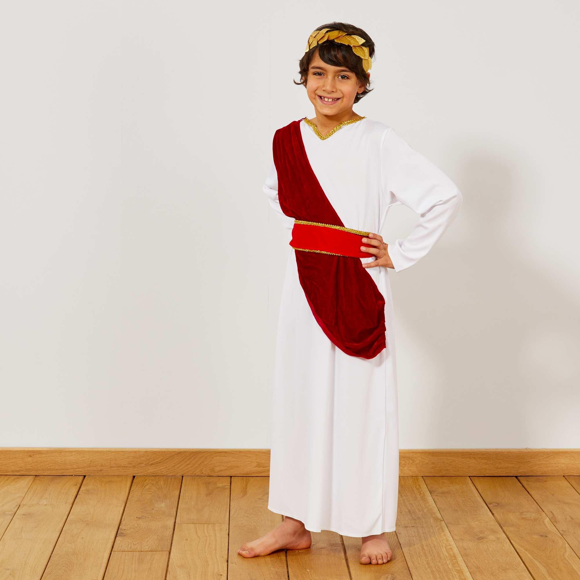 Bekannt Déguisement de romain Enfant - blanc / rouge - Kiabi - 15,00€ JQ03