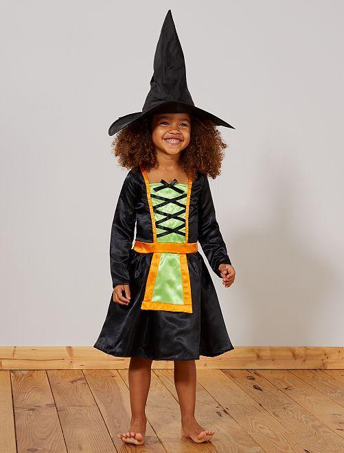 Déguisement de sorcière                             noir/vert