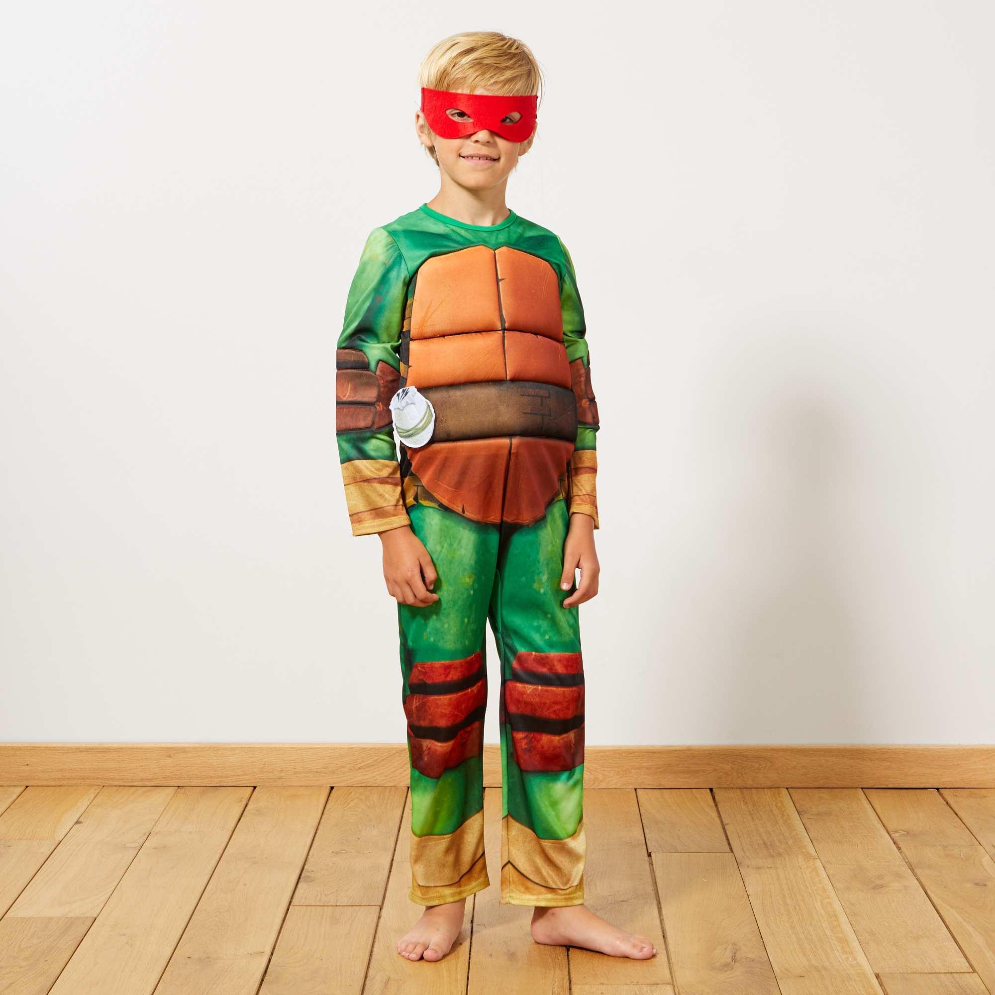 Couleur : vert, , ,, - Taille : 7/8A, 5/6A, ,,'Leonardo', 'Donatello', 'Michelangelo' ou 'Raphael', il peut choisir de se déguiser en