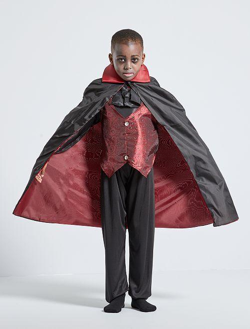 Déguisement de vampire                             noir/rouge