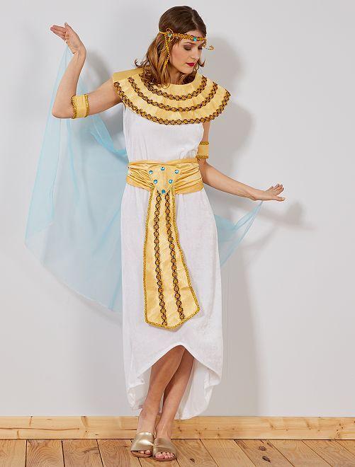 Déguisement d'égyptienne                             blanc Femme
