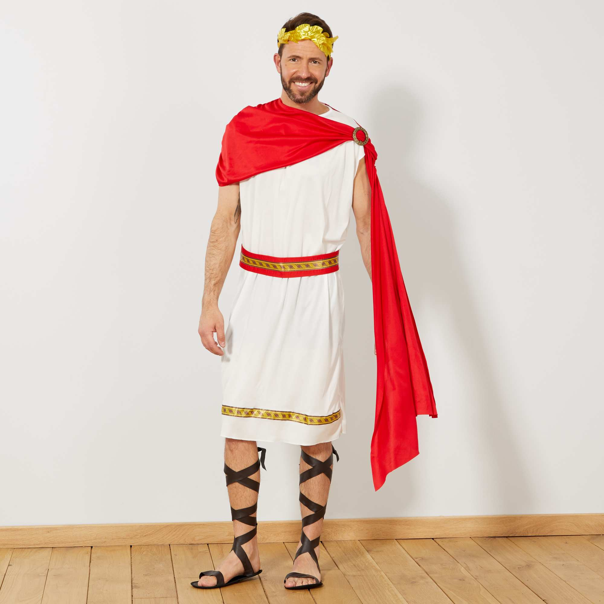 Bekannt Déguisement d'empereur romain Homme - blanc/rouge/doré - Kiabi  JQ03