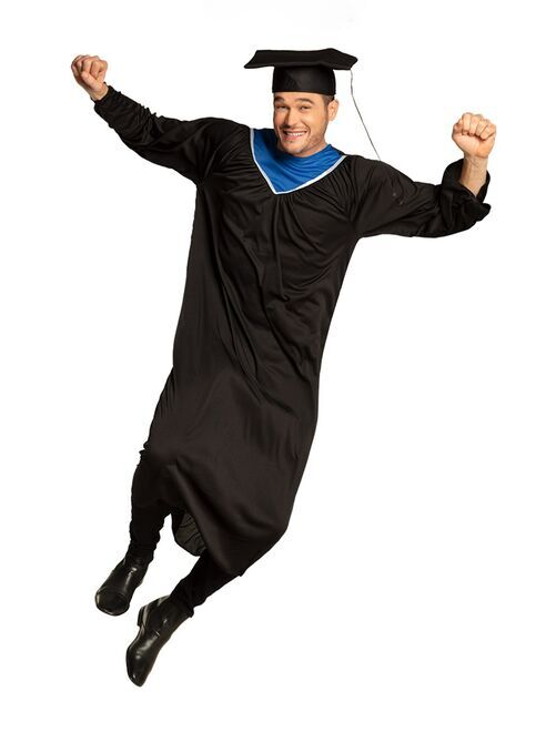 Déguisement d'étudiant diplômé                             noir