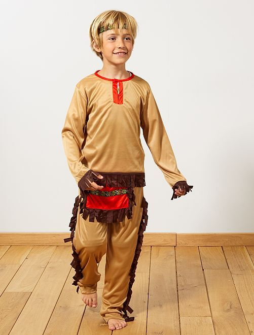Déguisement d'indien                             marron Enfant