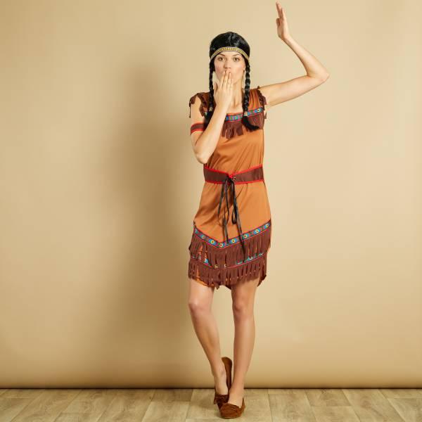 Deguisement D Indienne Deguisement Femme Marron Kiabi 20 00
