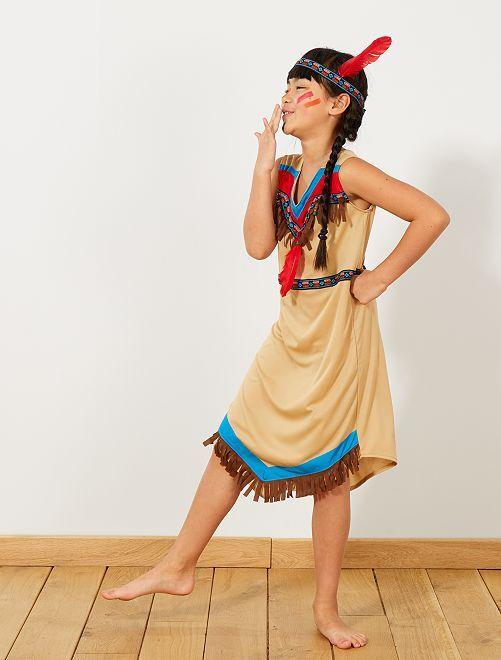 Déguisement d'indienne                             marron Enfant