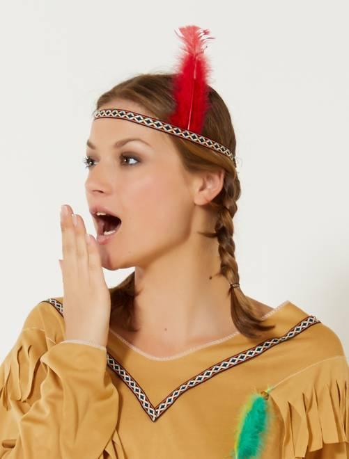 4ace4264de60 Déguisement d indienne Femme - marron - Kiabi - 17,00€