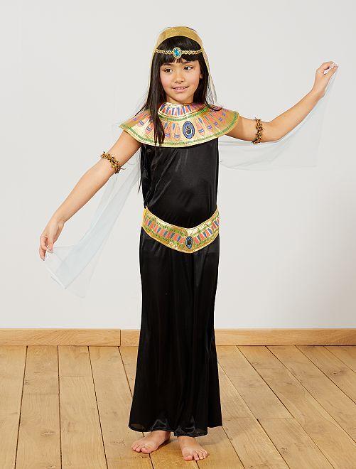 Déguisement egyptienne                              noir  Enfant