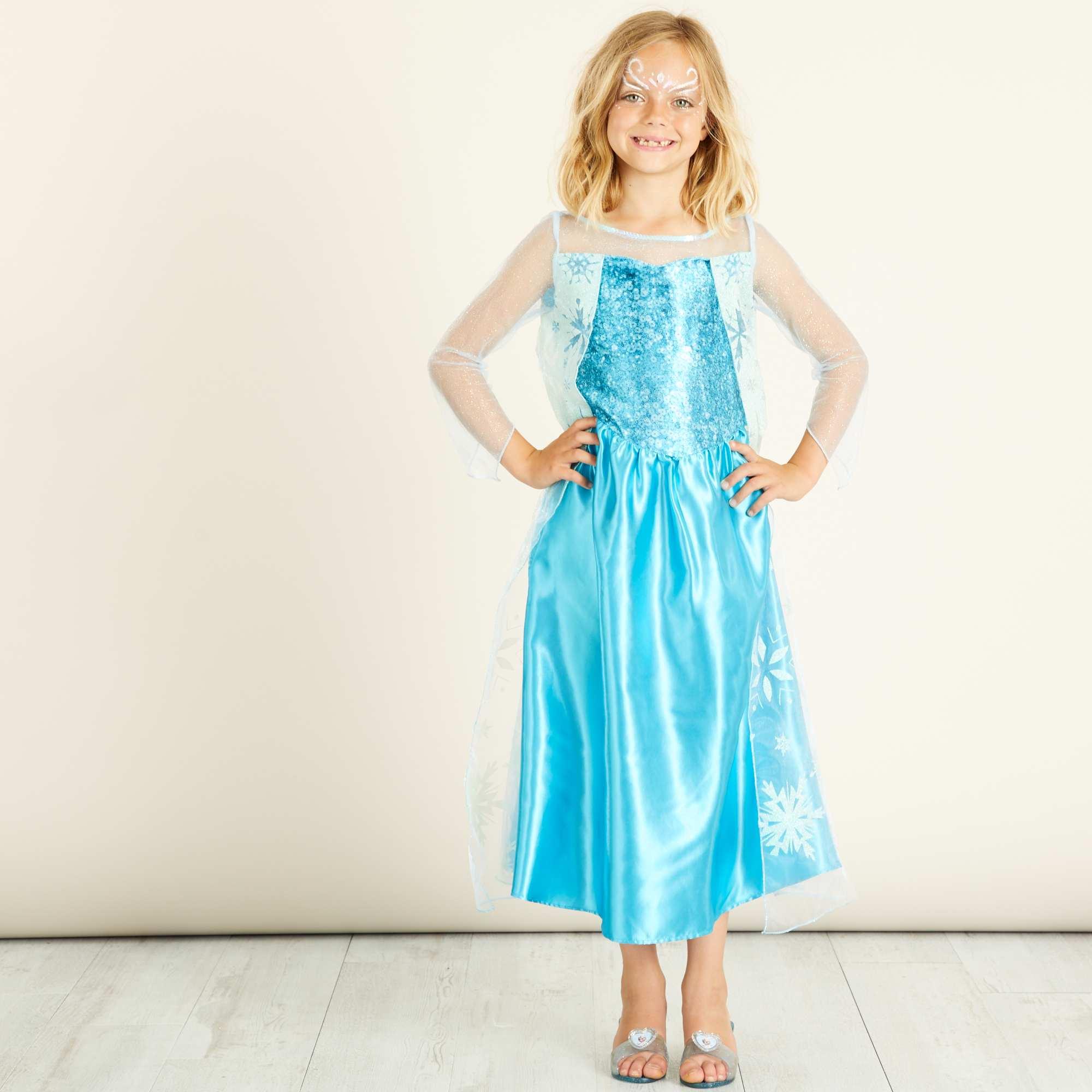 D guisement 39 elsa 39 39 reine des neiges 39 enfant bleu - La reine des neige elsa ...