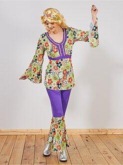 Déguisement femme - Déguisement Hippie - Kiabi