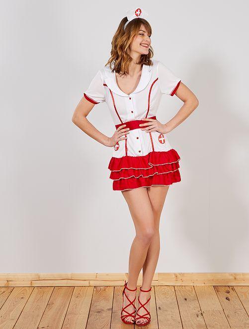 Déguisement infirmière                             blanc