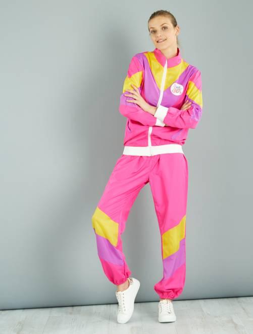 Déguisement jogging années 80                             rose Femme