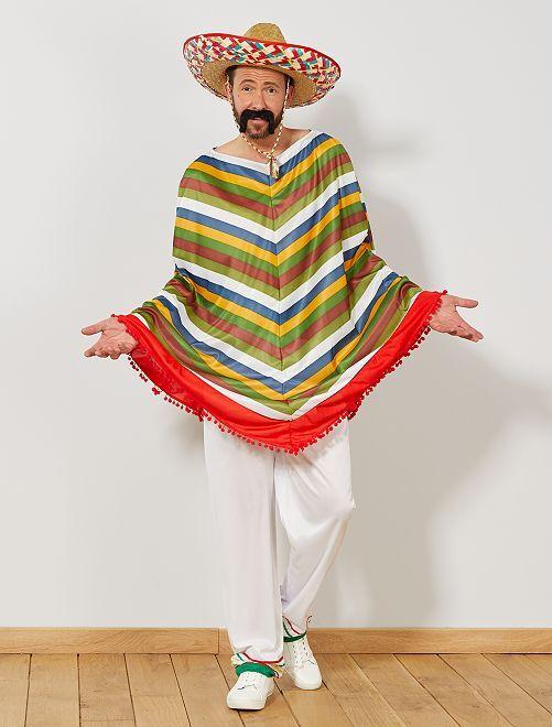 Déguisement mexicain                             multicolore