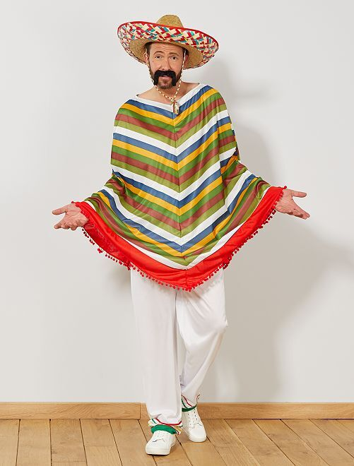 Déguisement mexicain                             multicolore Homme