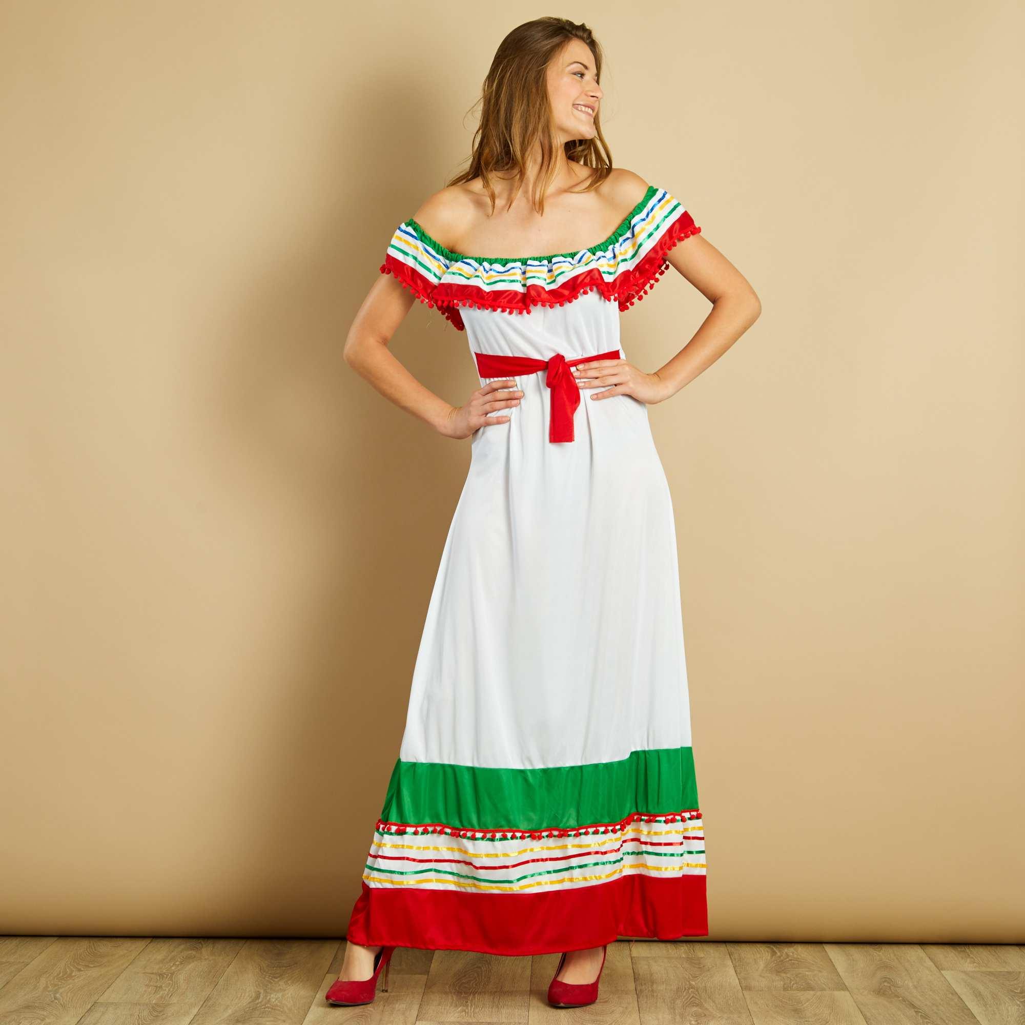 d guisement mexicaine femme multicolore kiabi 20 00. Black Bedroom Furniture Sets. Home Design Ideas