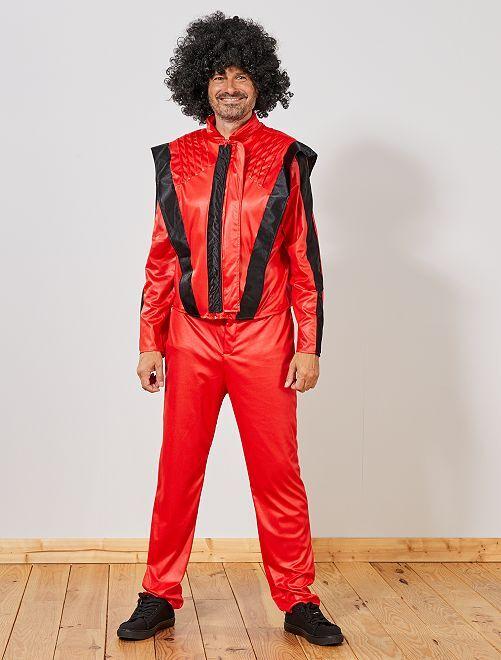 Déguisement 'Michael'                             rouge/noir
