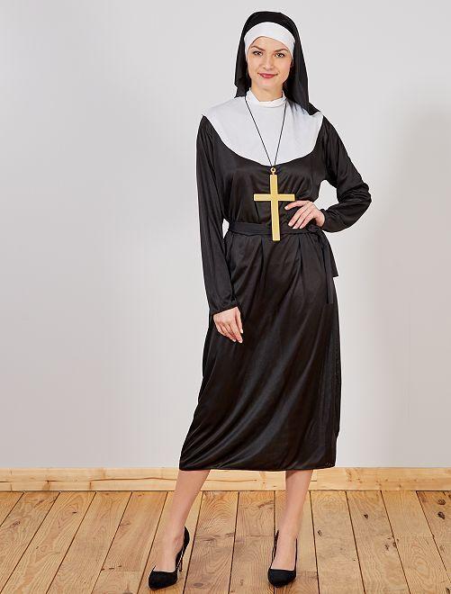 Déguisement nonne                             noir